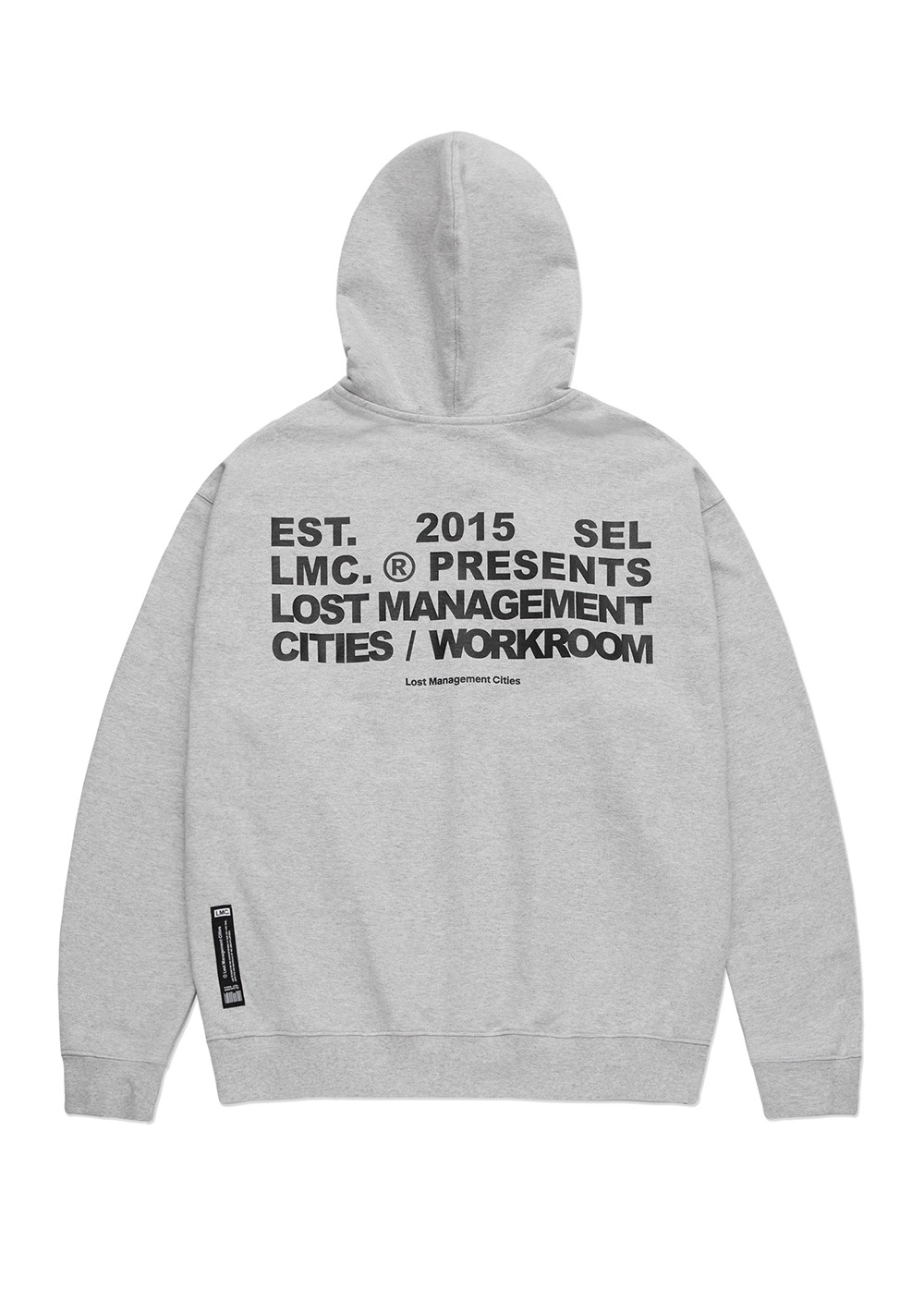 LMC WORKROOM ZIP-UP HOODIE heather gray
